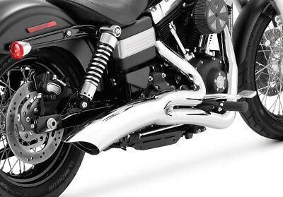 Vance & Hines Big Radius 2 Into 1 Full Exhaust System For Harley Dyna 28021