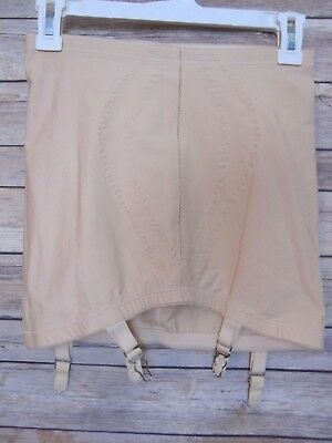 Vtg I Can't Believe It's A Girdle Beige Open Bottom Shaper Garters L 29 30 NWOT