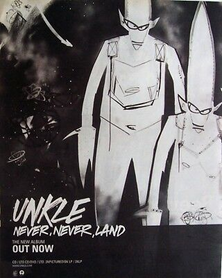 UNKLE 2003 Advert NEVER NEVER LAND mini poster