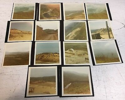 Vietnam Fire Base Photograph Pictures Album Hilltop Lot C x14 Scenes Smoke War