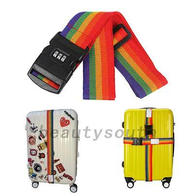 Travel Luggage Password Suitcase Secure Lock Safe Packing Strap Belt New