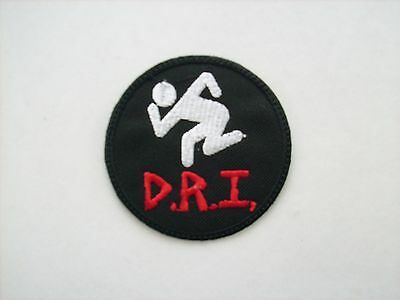 NEW PUNK D.R.I. CROSSOVER LOGO 3 x 3 INCH COLOR PATCH FREE SAME DAY SHIPPING