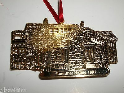 Vintage GUENTHER HOUSE 1861 24kt Gold Finish METAL Ornament