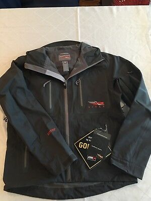 NWT Sitka Gear Coldfront Jacket, Solid CharCoalColor, Size M, GORETEX Waterproof