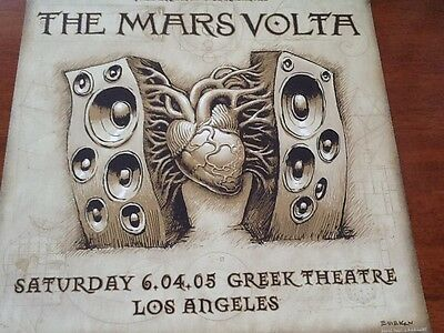 Emek Mars Volta poster Mint at the drive in LA 2005 Red Hot Chili Peppers Slayer