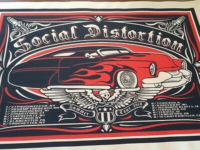 Social Distortion tour poster MacPhee 2010 signed numbered Lucero high quality