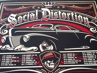 Social Distortion tour poster MacPhee 2009 signed numbered Lucero high quality