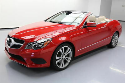 2014 Mercedes-Benz E-Class Base Convertible 2-Door 2014 MERCEDES-BENZ E350 CONVERTIBLE P1 NAV REAR CAM 47K #231579 Texas Direct