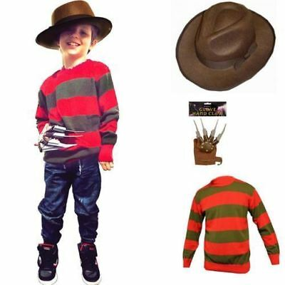 Kids Unisex Boys Girls Halloween Freddy Jumper Hat Claw A Lot Costumes