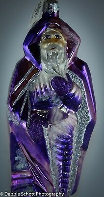 "RARE VINTAGE Slavic Treasures ""AMETHYST SANTA"" Purple Ornament"