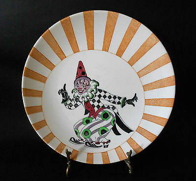 Vintage Mason's Circusland Clown Child's Plate Hand Painted England 1940's
