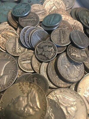 $1 Face Value - 90% Junk Silver U.S. Coin Lot - Half Dollars, Quarters or Dimes