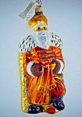 "RARE VINTAGE Slavic Treasures ""AMBER SANTA"" Ornament"