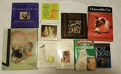 Cat Lovers Special Lot of 10 Different Cat Books ~ Art Poetry Cathedral Stories