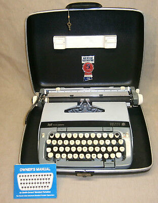 Vintage Smith-Corona Galaxie Twelve Typewriter In Case With Manual
