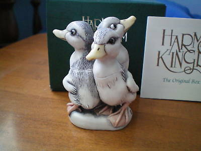 Harmony Kingdom Pal Around V1 Ducks Black Wash LE 150 UK Made Marble Resin NIB