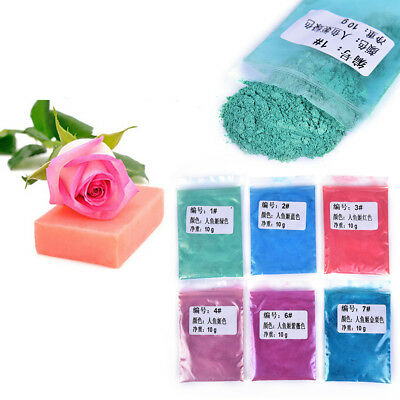 Healthy Natural DIY Mineral Mica Powder Soap Dye Glittering Soap Colorant 10g J0