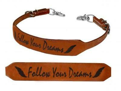 "Showman ""FOLLOW YOUR DREAMS"" Leather Branded Wither Strap! NEW HORSE TACK!"