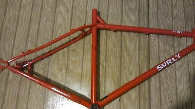 "surly pugsley frame large fatbike for 26""+-29""+mountain tour beach cruiser"