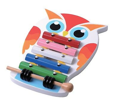 Wooden Toy Collection Preschool Line Owl Xylophone Pretend Play Kids Gift