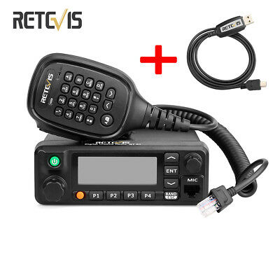 Retevis RT90 DMR Dual Band Display Digital 50W Mobile Car Radio with Cable New