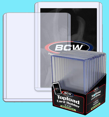 10 BCW 240pt 7MM THICK TOPLOADERS Trading Card Holder Sports Relic Topload Patch