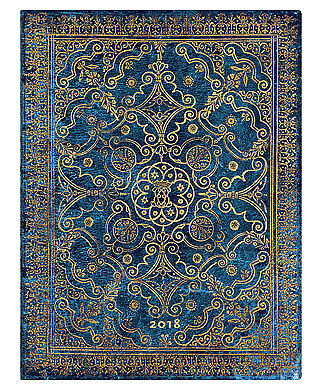 2018 Diary Paperblanks Azure Ultra HORZ Week to View 178x230mm