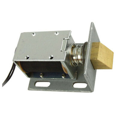DC 12V Open Frame Type Solenoid for Electric Door Lock Silver E7T5
