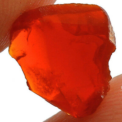 73.5CT 100% Natural Orange Mexican Fire Opal Facet Rough Specimens UYHO532