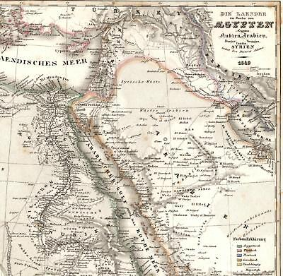 Map Of Africa 1850.Africa W Huge Mythical Mts Of Moon Saudi Arabia C 1850 Meyer