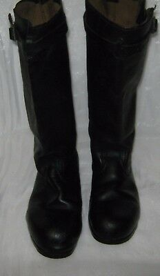 Soviet Russian Army Military Jack Boots with belts size 45 (EU 46, US 12)