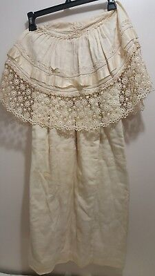 Antique 1900s LONG Baby CHRISTENING Baptism  COAT  LACE Doll