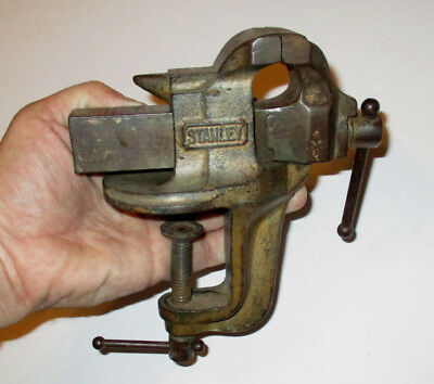 """ANTIQUE Pat. 1908 1915 SMALL STANLEY USA Sweetheart ANVIL VISE w 2"""" Jaws VINTAGE"""