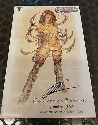Whitchblade #62 Autographed Museum copy AUTO by KEU CHA 500copies Exclusive