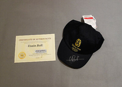 Usain Bolt Signed 2008 Beijing Summer Olympic Games Cap with COA