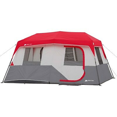 """Tent Ozark Trail 13' x 9' x 72"""" Instant Cabin Sleeps 8 Person Outdoors Durable"""