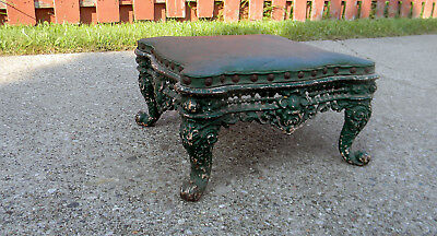 Vintage Antique Victorian Cast Iron Foot Stool