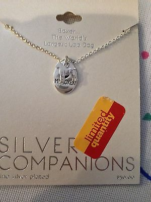 Nwt Silver Companions ~ Boxer Necklace ~ Silver Plated ~ Largest Lap Dog