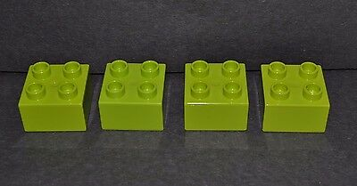 combined shipping lime green Duplo arch block 2X4 tall arch block