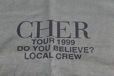 CHER / TOUR T-SHIRT CREW /  Do You Believe Tour 1999 - Green - Size XL - New