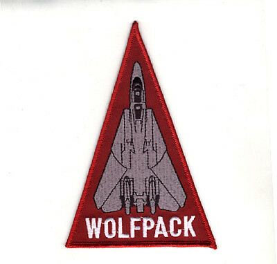Usn/navy Vf-1 Wolfpack F-14A Tomcat Shoulder Triangle Patch