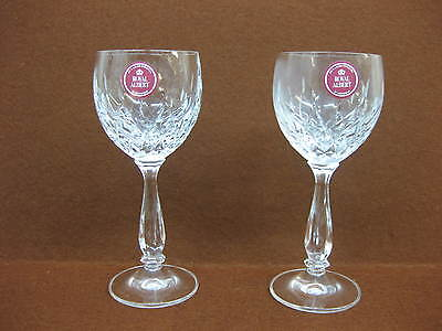 Pair Royal Albert Crystal Sherry Glasses / Small Wine Goblets? ~ Countess