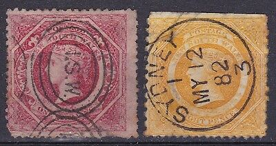 New South Wales 1880/92  8d + 1/- used