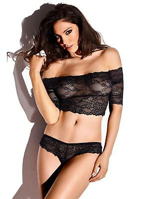 Ann Summers Womens Nadine Lace Crop Top & Knicker Set Sexy Lingerie Underwear