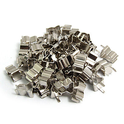 50Pcs Electronic Glass Fuse Tube Clip Clamp for 6 x 30mm Fuse H6M7