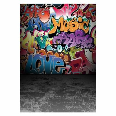 5x7ft Graffiti Style Vinyl Photography Backdrop Customized Photo Background O5Y5