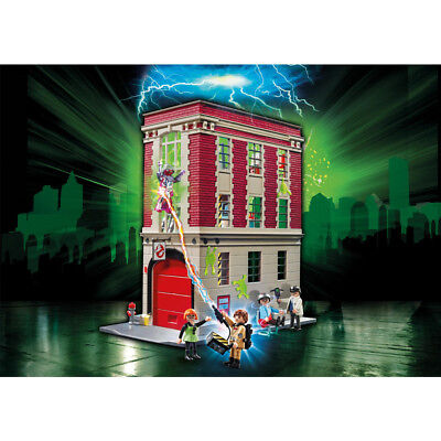 Playmobil Ghostbusters Firehouse Playset (9219) Play Set with Action Figures