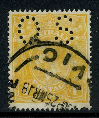 KGV Head Single Wmk Perf OS 4d Orange GU SG O41 #14735