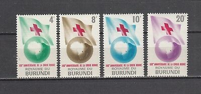 Burundi 1963 Red Cross Mi 59-62 MNH