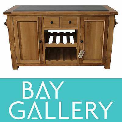 Oak Kitchen Island Bench Granite Timber Butchers Block Chopping Wooden Furniture